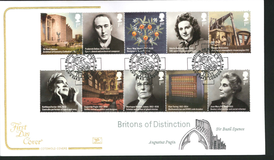 2012 - Britons of Distinction Cotswold First Day Cover - Deans Yard London SW1 Postmark