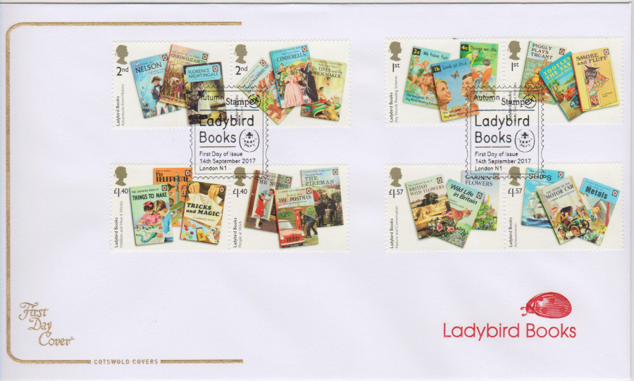 "2017 - First Day Cover ""Ladybird Books"", COTSWOLD, Autumn Stampex London N1 Postmark"