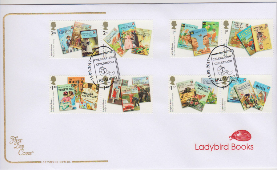 "2017 - First Day Cover ""Ladybird Books"", COTSWOLD, Childhood Reading Postmark"