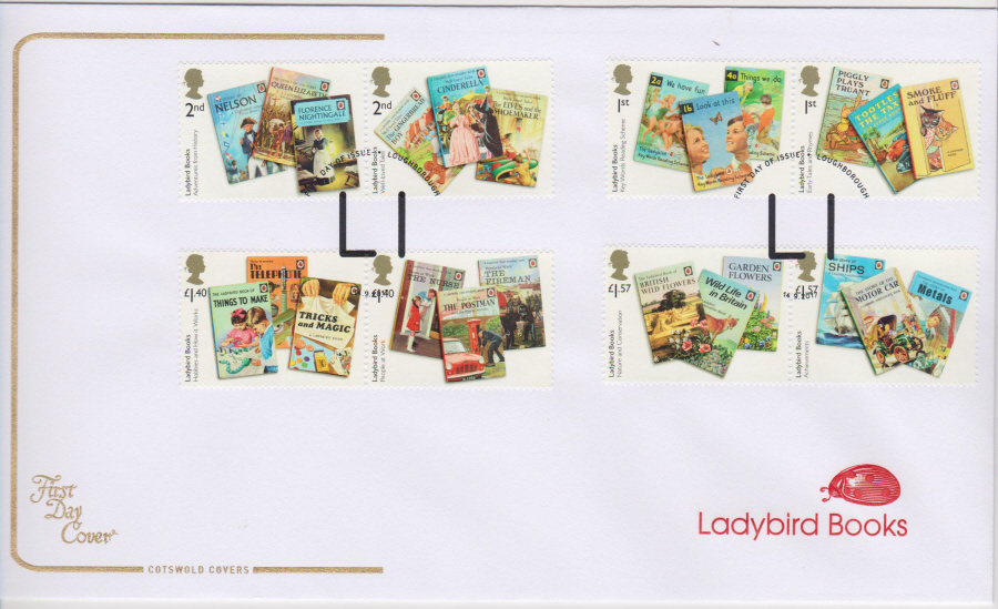 "2017 - First Day Cover ""Ladybird Books"", COTSWOLD, FDI LI Loughborough Postmark"