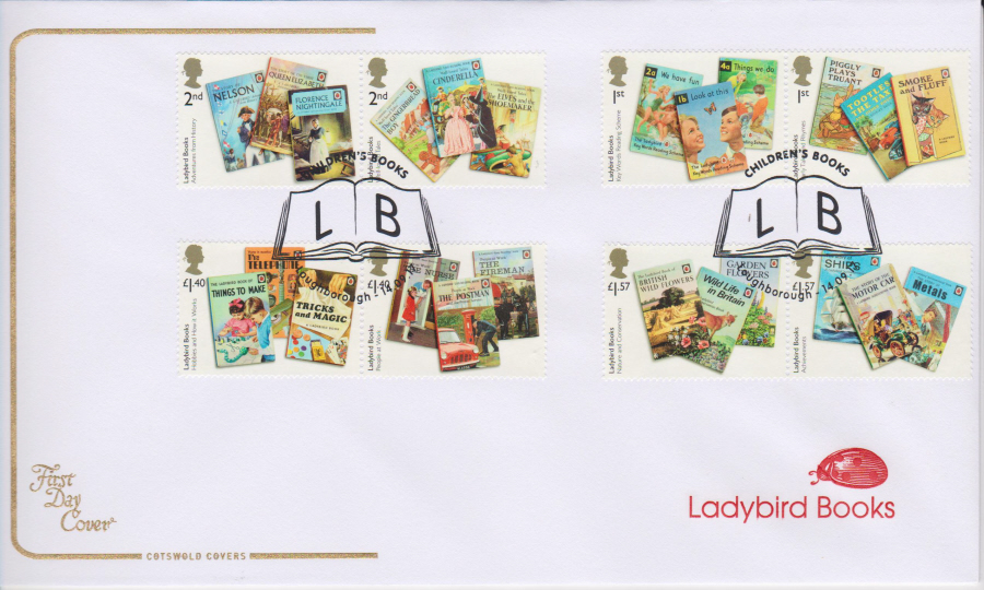 "2017 - First Day Cover ""Ladybird Books"", COTSWOLD, L B Loughborough Postmark"