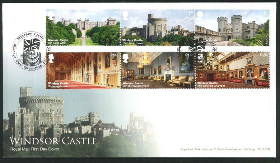 "2017 - First Day Cover ""Windsor Castle"" - Windsor View Birmingham Postmark"