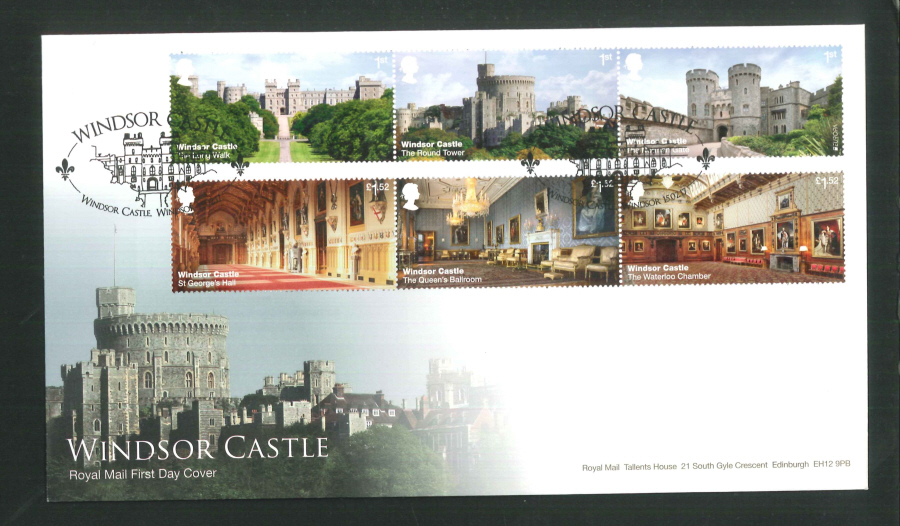 "2017 - First Day Cover ""Windsor Castle"" - Windsor Castle (Oval), Windsor Postmark"