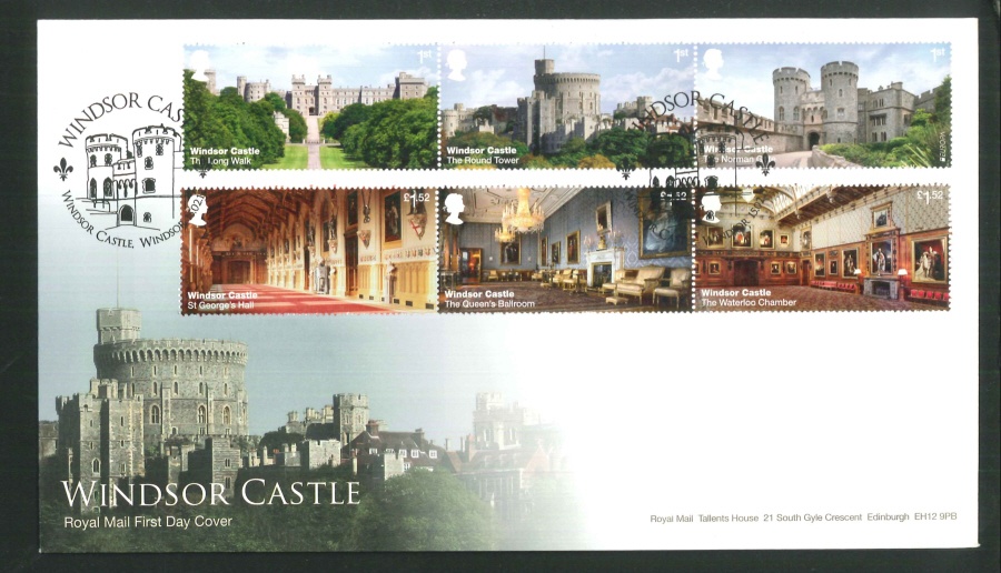 "2017 - First Day Cover ""Windsor Castle"" - Windsor Castle (Circle), Windsor Postmark"