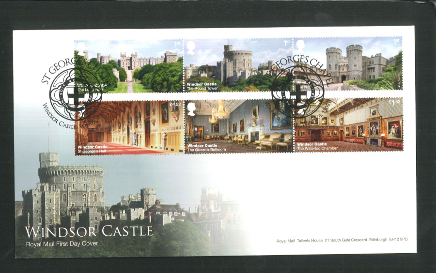 "2017 - First Day Cover ""Windsor Castle"" - St George's Chapel (Cross), Windsor Postmark"