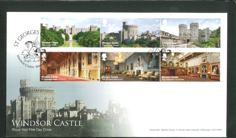 "2017 - First Day Cover ""Windsor Castle"" - St George's Chapel, Windsor Postmark"