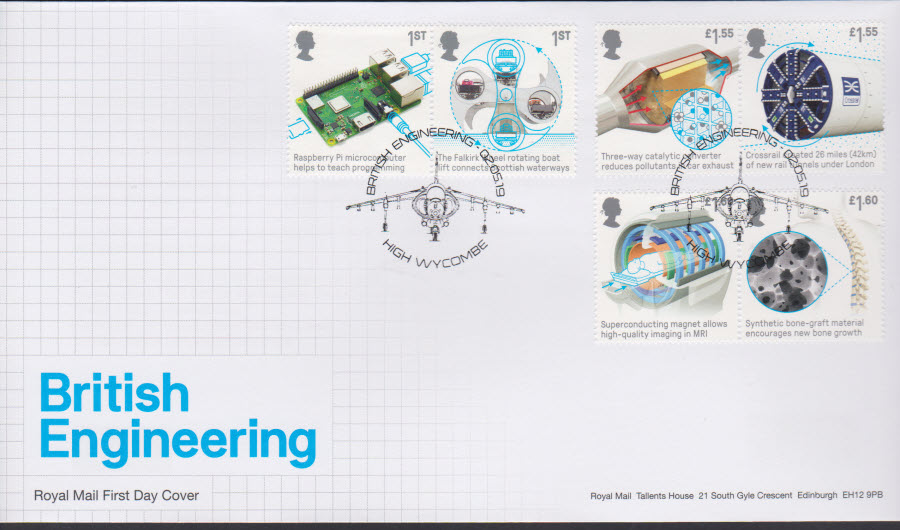 2019 FDC -British Engineering Set FDC High Wycombe Postmark