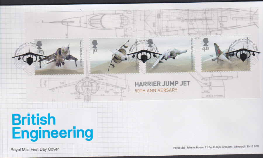 2019 FDC -British Engineering Mini Sheet FDC F D I Brize Norton Postmark