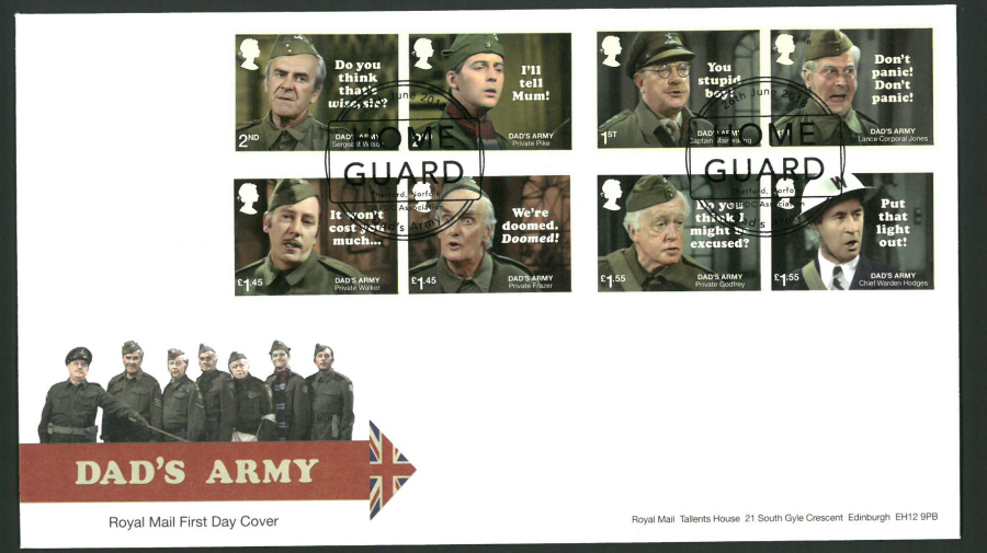 2018 FDC - Dad's Army FDC -GB FDC Assn Home Guard Thetford Postmark