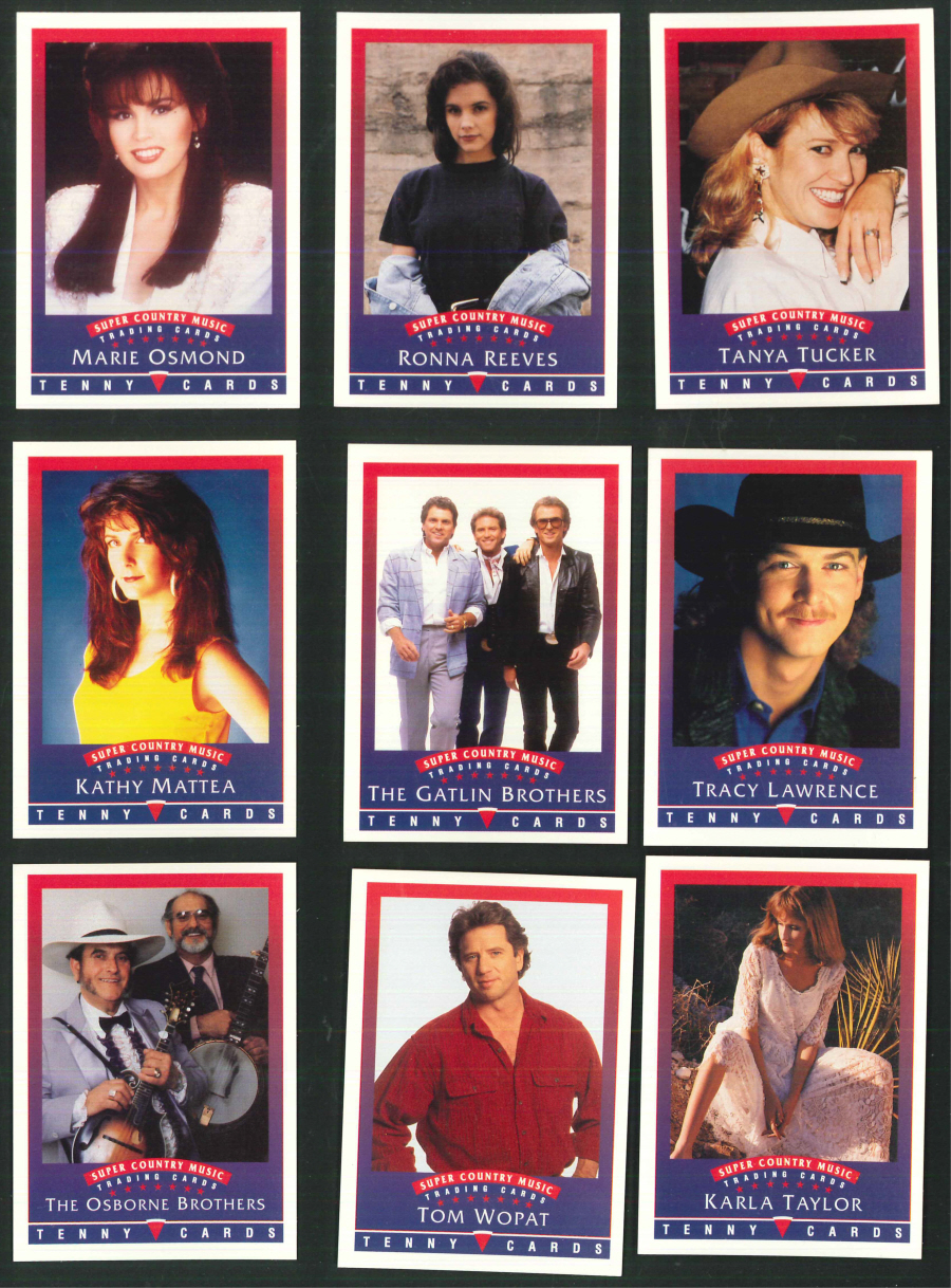 """Super Country Music Trading Cards"" Trading Card set, by Tenny Cards"