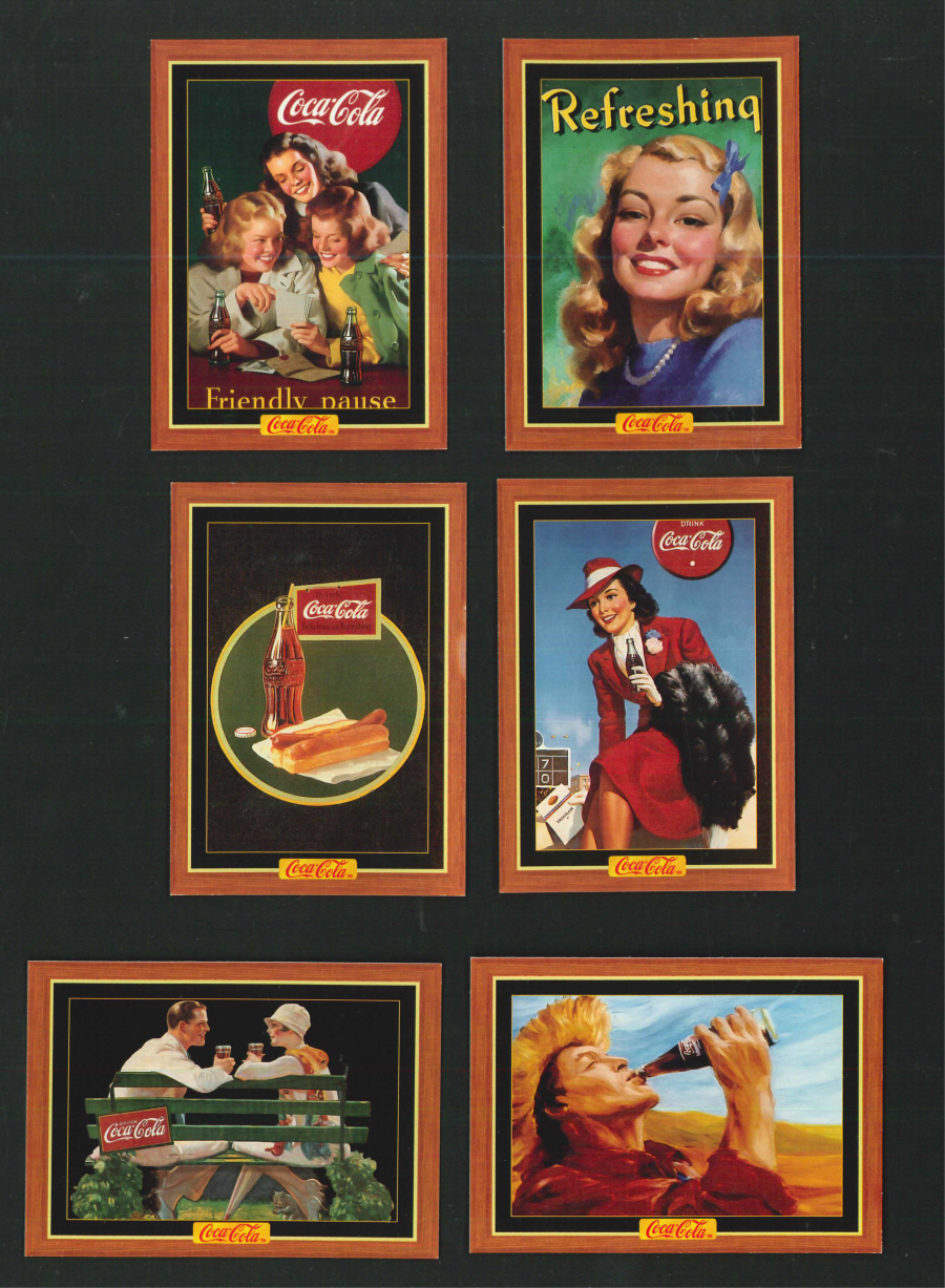 """The Coca Cola Collection Series 4"" Trading Card set, by Collect-A-Card"