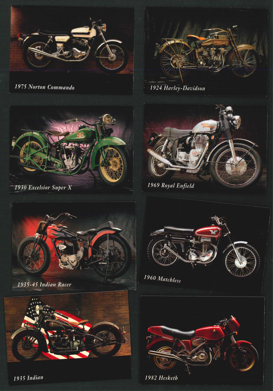 """INLINE Classic Motorcycle Cards"" Trading Card set, by Chestnut"