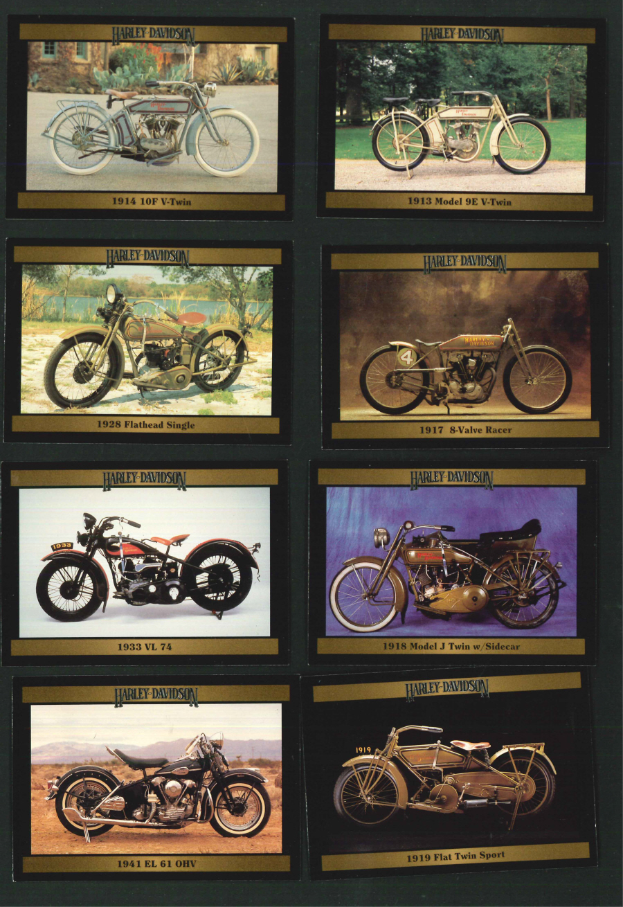"""Harley Davidson Collectors Cards series 2"" Trading Card set, by Collect-A-Card"