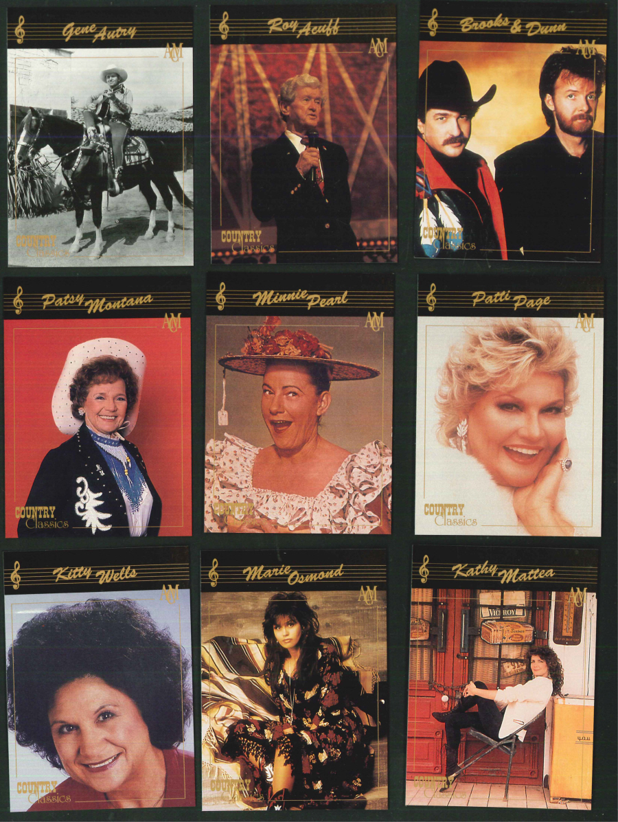 """Country Classics Series 1 Collector's Cards"" Trading Card set, by Collect-A-Card"