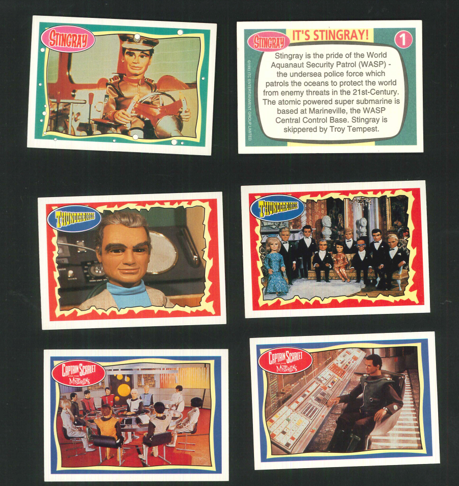"""Stingray, Captain Scarlet,Thunderbirds - Jerry Anderson "" Trading Card set, by Topps"