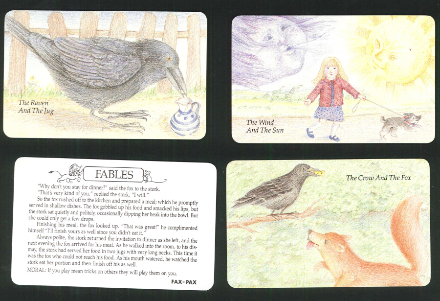 """Fables"" Trading Card set, by Fax-Pax"