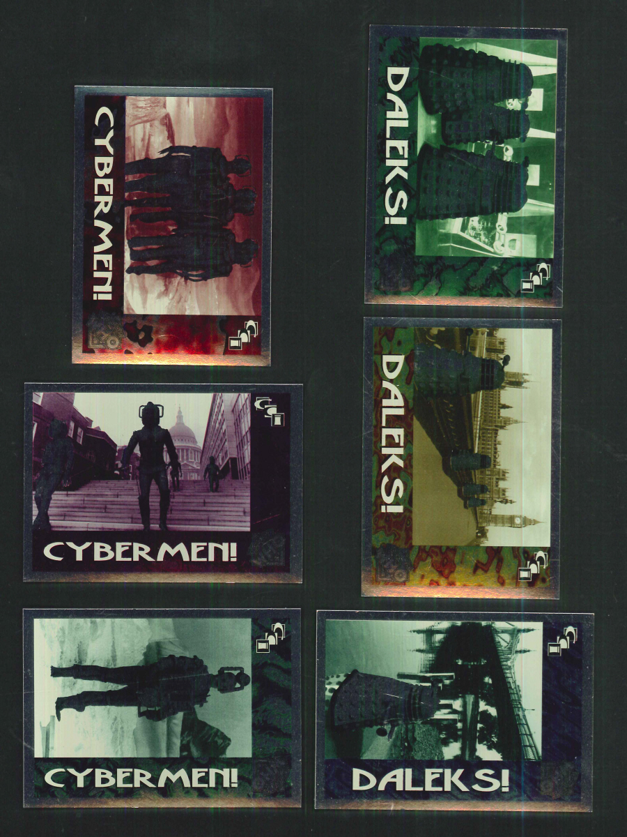 """Dr Who Series 2, Foil Villains Chase Cards"" Chase Card Set, by Cornerstone Communications"
