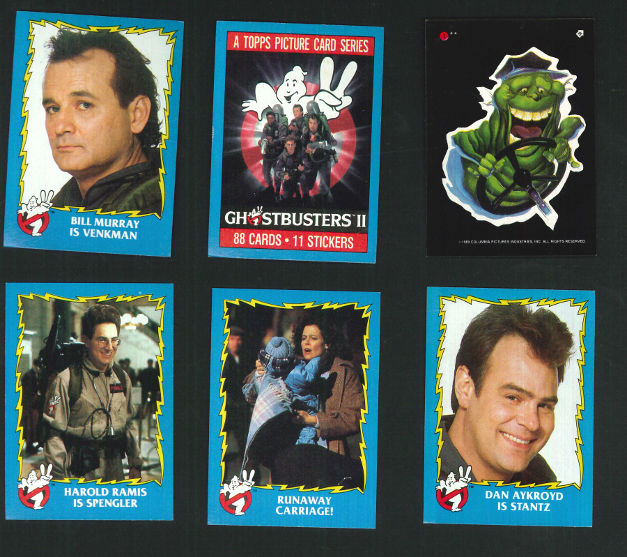 """Ghostbusters II"" Trading Card set, by Topps"