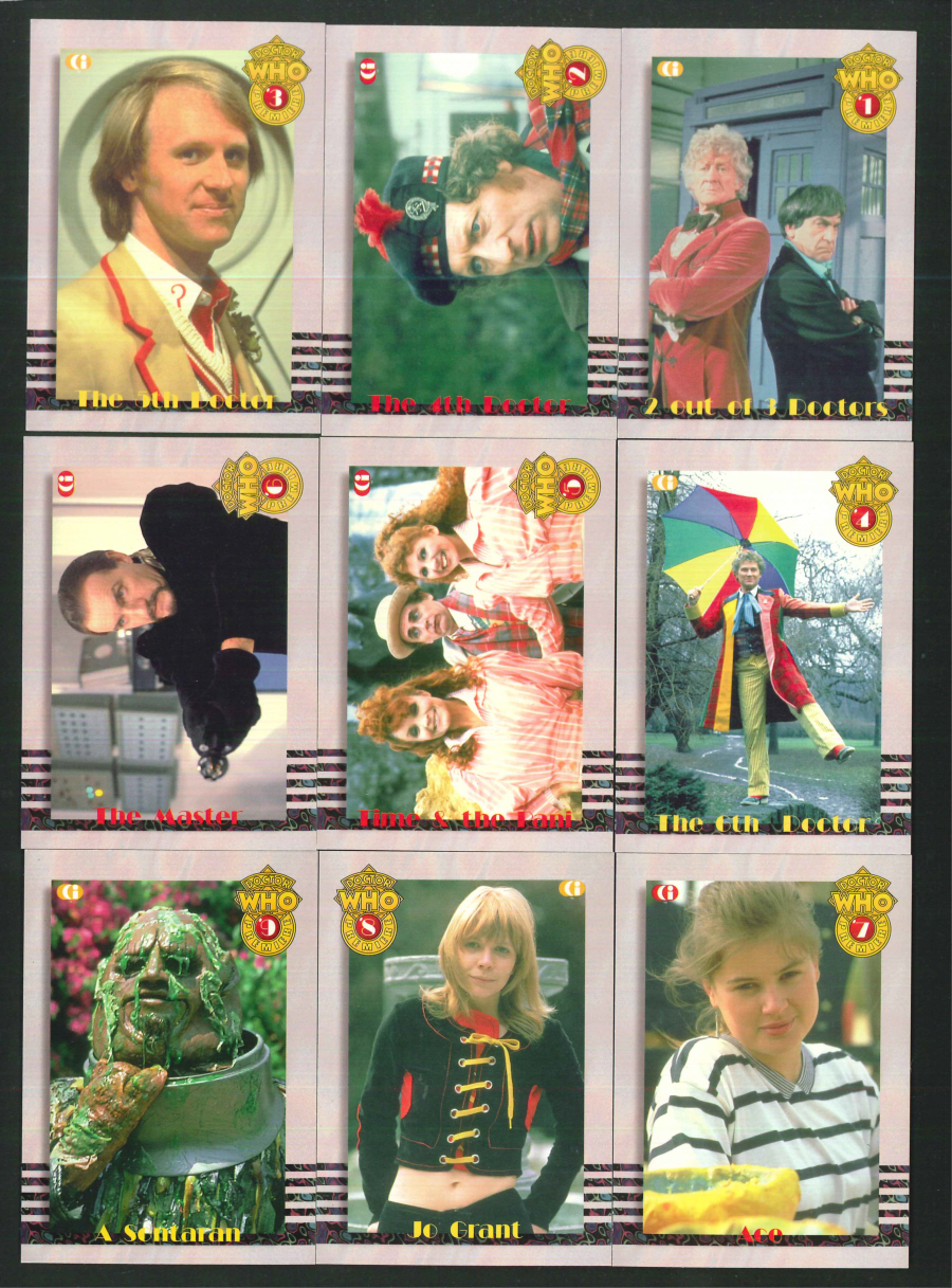 """Dr Who Premier 1-9 Chase Cards - Series 2"" Chase Card Set, by Cornerstone Communications"