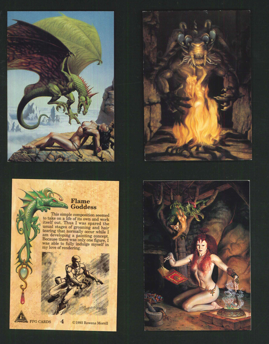 """Rowena (Rowena Morrill)"" Trading Card set, by FPG"