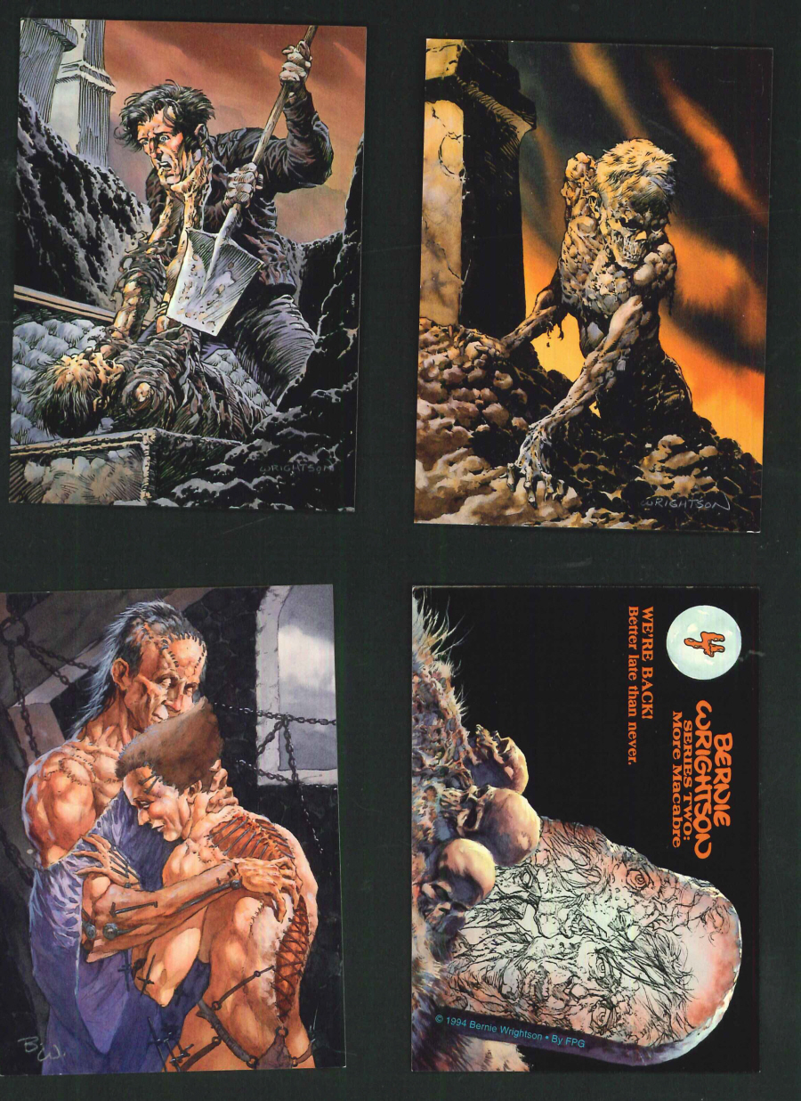 """Bernie Wrightson Series 2 More Macabre"" Trading Card set, by FPG"